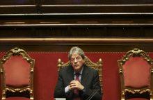 Italijoje prezidentas ketina premjeru skirti S. Gentilonį