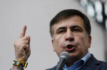 M. Saakašvilis užsipuolė Ukrainos prezidentą Kijeve vykusioje demonstracijoje