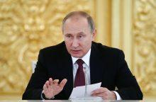 """V. Putinas sveikina JAV """"realybės suvokimą"""" Šiaurės Korėjos krizėje"""
