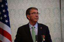 JAV gynybos sekretorius atvyko į Iraką aptarti Mosulo operacijos