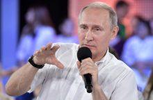 V. Putinas stengėsi sužavėti Rusijos jaunimą per tiesioginę televizijos laidą