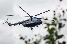 Dingusio žmogaus paieškai buvo pasitelktas Karinių oro pajėgų sraigtasparnis