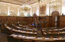 Latvijos Saeima trečiadienį vidurdienį turėtų balsuoti dėl naujos vyriausybės