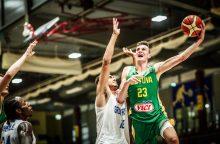 Lietuvos 20-mečiai krepšininkai tęsia pergalių seriją Europos čempionate