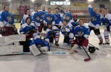 """Antroji """"Hockey Girls"""" išvyka į Latviją pareikalavo daug jėgų"""