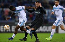 Trys klubai užsitikrino vietas Europos lygos atkrintamosiose varžybose
