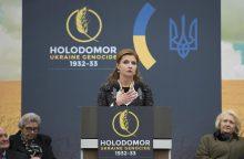 Ukrainos prezidento žmona taps TV rubrikos vedėja