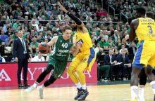 """""""Žalgiris"""" po atkaklios kovos palaužė """"Maccabi"""" krepšininkus"""