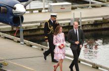 Princas Williamas su žmona apsilankė Vankuveryje