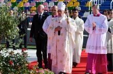 Gruzijoje popiežiaus aukotose mišiose ortodoksai nedalyvavo