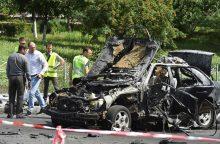 Kijeve sprogus automobiliui žuvo ukrainiečių karininkas