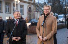 R. Šimašius su P. Porošenka atidarė Ukrainos skverą