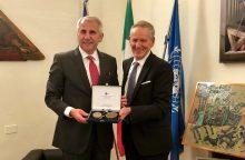 V. Ušackui suteiktas Urbino universiteto garbės laipsnis