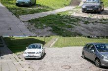 Žalieji koriai – naujoviškos automobilių aikštelės prie daugiabučių