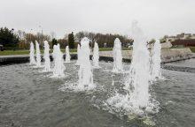 Čečėnijos aikštės fontanas jau džiugina kauniečius